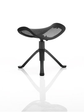 Picture of Office Chair Company Ergo-Dynamic Footstool Black Frame Black Mesh