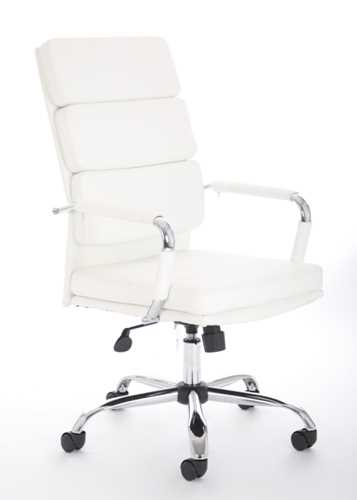 Picture of Office Chair Company Advocate Executive Chair White Bonded Leather With Arms