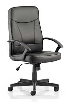 Picture of Office Chair Company Blitz Executive Black Chair Black Bonded Leather With Arms
