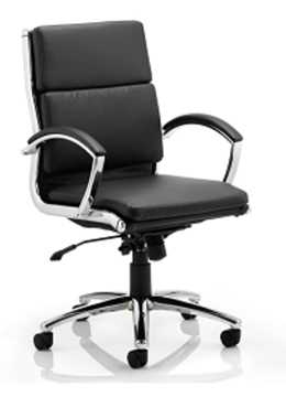 Picture of Office Chair Company Classic Executive Chair Black With Arms Medium Back