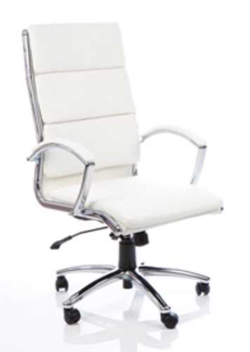 Picture of Office Chair Company Classic Executive Chair White With Arms High Back
