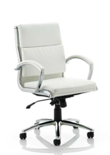Picture of Office Chair Company Classic Executive Chair White With Arms Medium Back