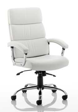Picture of Office Chair Company Desire Executive Chair White With Arms With Headrest