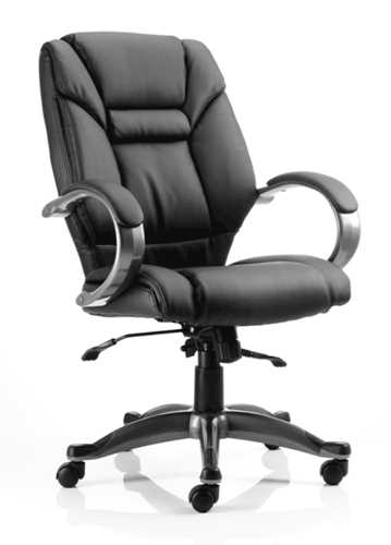 Picture of Office Chair Company Galloway Executive Chair Black Leather With Arms