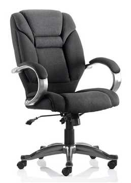 Picture of Office Chair Company Galloway Executive Chair Black Fabric With Arms