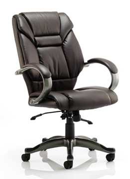 Picture of Office Chair Company Galloway Executive Chair Brown Leather With Arms