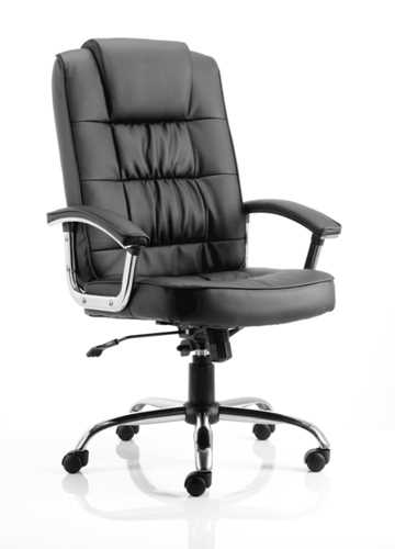 Picture of Office Chair Company Moore Deluxe Executive Chair Black Leather With Arms