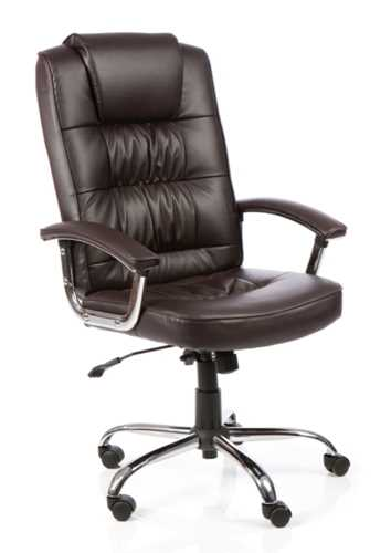 Picture of Office Chair Company Moore Deluxe Executive Chair Brown Leather With Arms