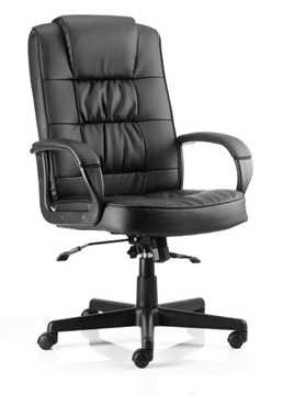 Picture of Office Chair Company Moore Executive Black Leather With Arms