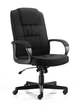 Picture of Office Chair Company Moore Executive Chair Black Fabric With Arms