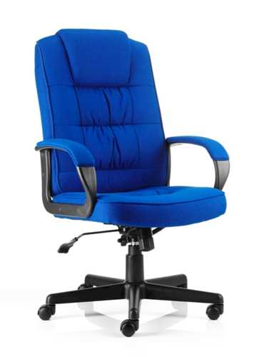 Picture of Office Chair Company Moore Executive Chair Blue Fabric With Arms