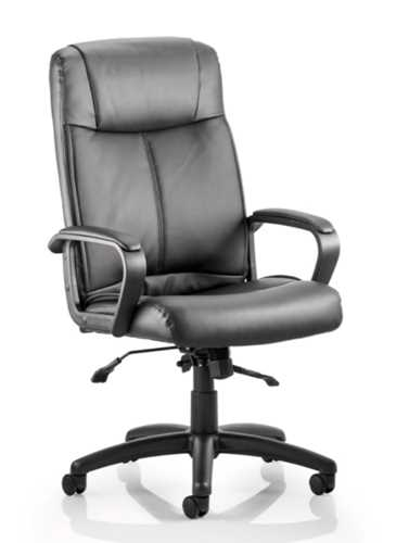 Picture of Office Chair Company Plaza Executive Chair Black Bonded Leather With Arms