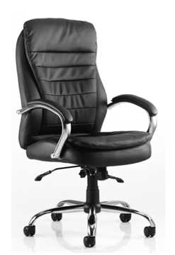 Picture of Office Chair Company Rocky Executive Chair Black Leather High Back With Arms
