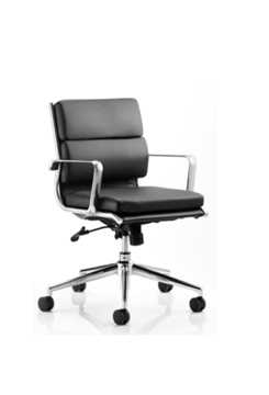 Picture of Office Chair Company Savoy Executive Black Bonded Leather Medium Back With Arms