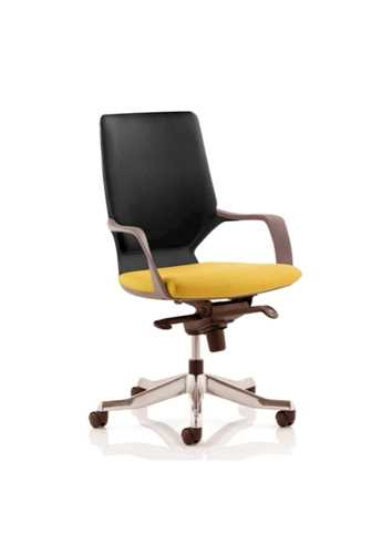 Picture of Office Chair Company Xenon Black Medium Back Bespoke Colour Seat Sunset