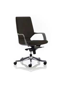 Picture of Office Chair Company Xenon Executive Black Chair Black Leather Medium Back With Arms