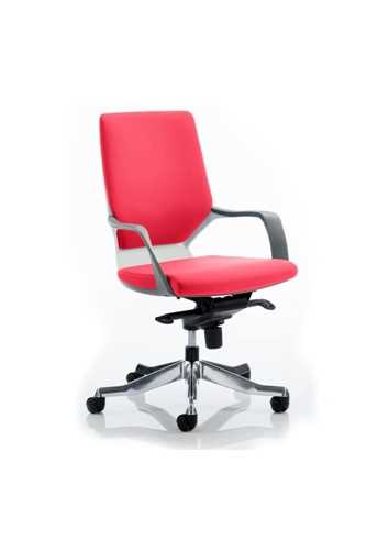 Picture of Office Chair Company Xenon White Medium Back Bespoke Colour Cherry