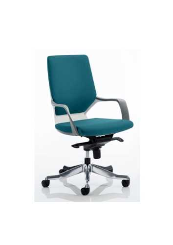 Picture of Office Chair Company Xenon White Medium Back Bespoke Colour Kingfisher