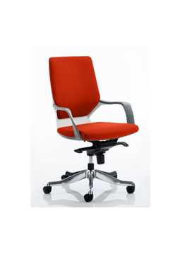 Picture of Office Chair Company Xenon White Medium Back Bespoke Colour Pimento