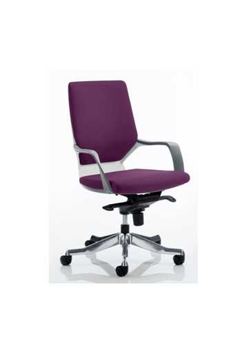 Picture of Office Chair Company Xenon White Medium Back Bespoke Colour Purple