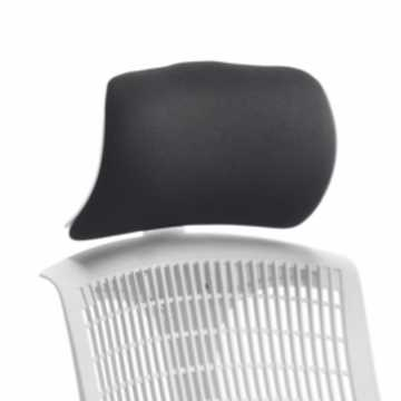 Picture of Office Chair Company Flex Headrest White Shell Black Fabric