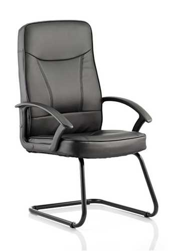Picture of Office Chair Company Blitz Visitor Cantilever Black Chair Black Bonded Leather With Arms