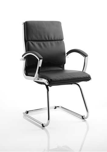 Picture of Office Chair Company Classic Visitor Cantilever Chair Black With Arms