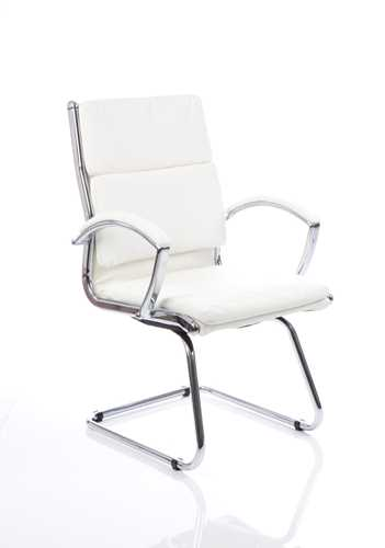 Picture of Office Chair Company Classic Visitor Cantilever Chair White With Arms