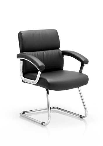 Picture of Office Chair Company Desire Visitor Cantilever Chair Black With Arms