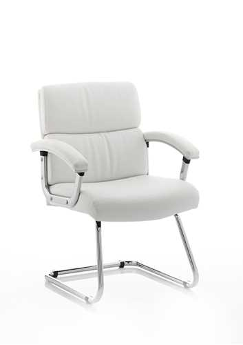 Picture of Office Chair Company Desire Visitor Cantilever Chair White With Arms