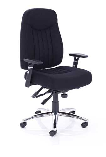 Picture of Office Chair Company Barcelona Plus Task Operator Chair Black Fabric With Arms