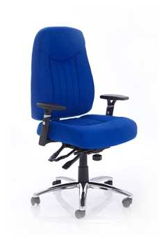 Picture of Office Chair Company Barcelona Plus Task Operator Chair Blue Fabric With Arms