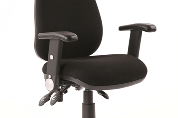 Picture of Office Chair Company Luna Fold back And Height Adjusting Black Arm