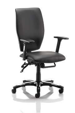 Picture of Office Chair Company Sierra Executive Chair Black Leather With Arms