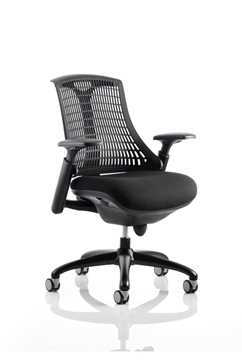 Picture of Office Chair Company Flex Task Operator Chair Black Frame With Black Fabric Seat Black Back With Arms