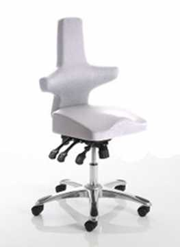 Picture of Office Chair Company Saltire Posture Chair Ivory Fabric