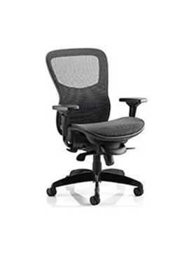 Picture of Office Chair Company Stealth Ergo Posture Black Mesh Seat And Back Chair With Arms