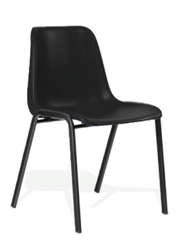Picture of Office Chair Company Polly Stacking Visitor Chair Black Polypropylene