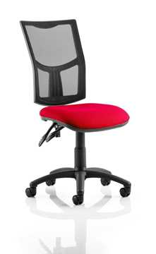 Picture of Office Chair Company Eclipse II Lever Task Operator Chair Mesh Back With Bespoke Colour Seat in Cherry