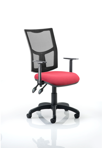 Picture of Office Chair Company Eclipse II Lever Task Operator Chair Mesh Back With Wine Seat With Height Adjustable Arms