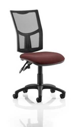 Picture of Office Chair Company Eclipse II Lever Task Operator Chair Mesh Back With Bespoke Colour Seat in Chilli