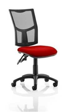 Picture of Office Chair Company Eclipse II Lever Task Operator Chair Mesh Back With Bespoke Colour Seat in Pimento