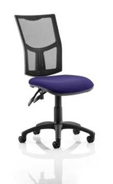 Picture of Office Chair Company Eclipse II Lever Task Operator Chair Mesh Back With Bespoke Colour Seat in Purple