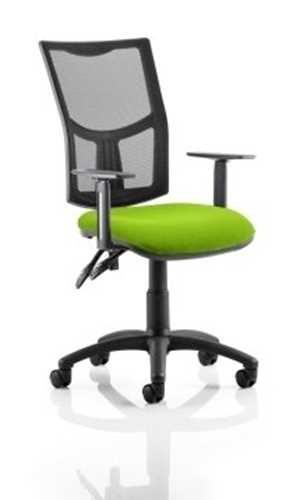 Picture of Office Chair Company Eclipse II Lever Task Operator Chair Mesh Back With Bespoke Colour Seat in Swizzle With Height Adjustable Arms
