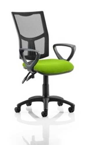 Picture of Office Chair Company Eclipse II Lever Task Operator Chair Mesh Back With Bespoke Colour Seat With loop Arms in Swizzle