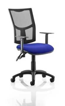 Picture of Office Chair Company Eclipse II Lever Task Operator Chair Mesh Back With Bespoke Colour Seat in Serene With Height Adjustable Arms
