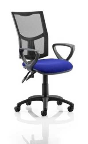 Picture of Office Chair Company Eclipse II Lever Task Operator Chair Mesh Back With Bespoke Colour Seat With loop Arms in Serene