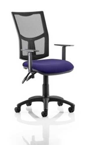 Picture of Office Chair Company Eclipse II Lever Task Operator Chair Mesh Back With Bespoke Colour Seat in Purple With Height Adjustable Arms