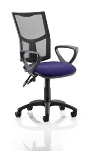 Picture of Office Chair Company Eclipse II Lever Task Operator Chair Mesh Back With Bespoke Colour Seat With loop Arms in Purple