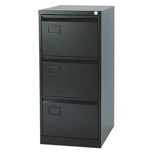 Picture of Office Chair Company Jemini 3 Drawer Filing Cabinet Black